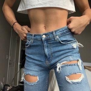 Women's Zara boyfriend jeans